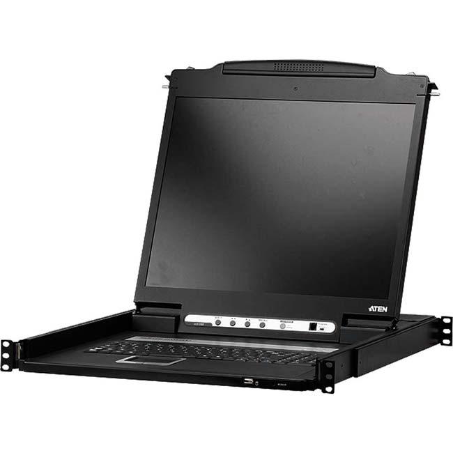 کنسول مانیتور تک ریل CL6700 با پورت USB و DVI